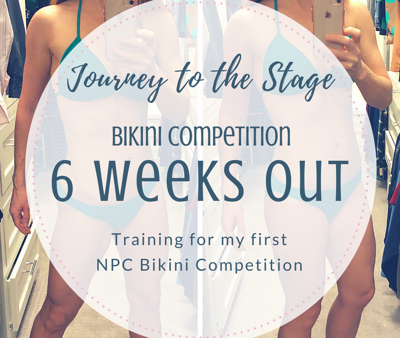 Journey to the Stage: 6 Weeks Out